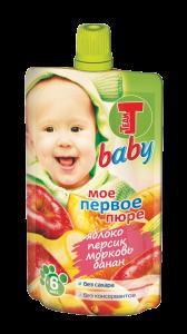 Теди BABY пюре яблоко-персик-морковь-банан